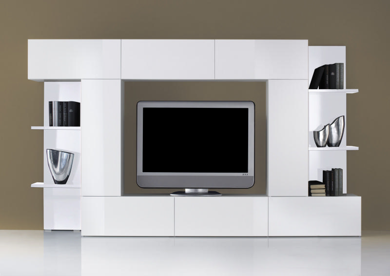 meuble tele but blanc conceptions de maison. Black Bedroom Furniture Sets. Home Design Ideas
