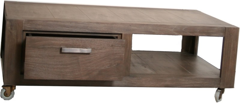 Table basse aquarium sur roulette - Table basse a roulette ...