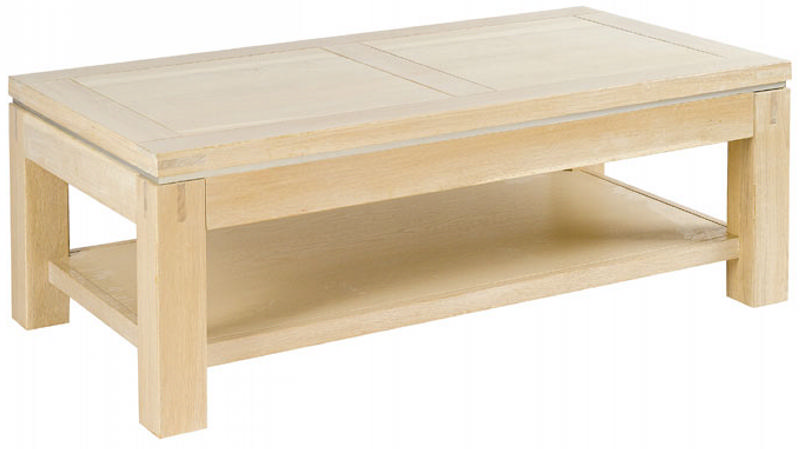 Table basse chene blanchi conceptions de maison for Table de chevet malm chene blanchi