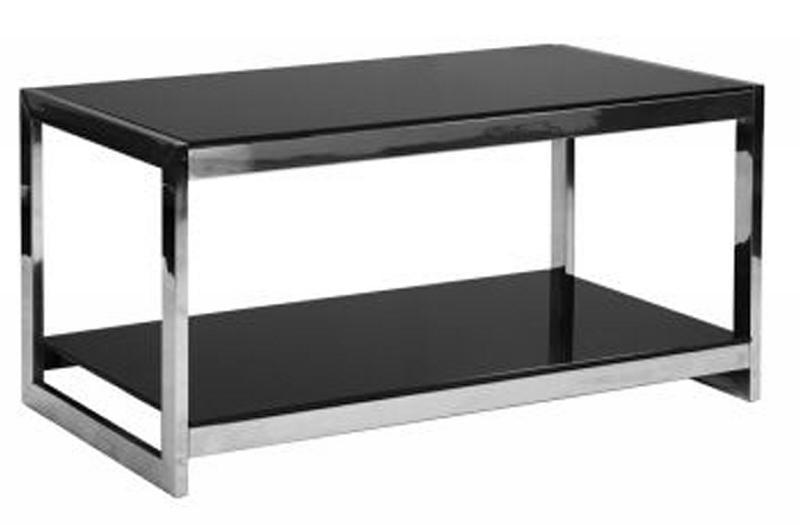 Table basse en verre trempe noir - Table basse verre noir ...