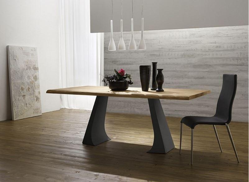 Le style bicolore ou l art de jouer sur les contrastes for Table de salle a manger bois et fer