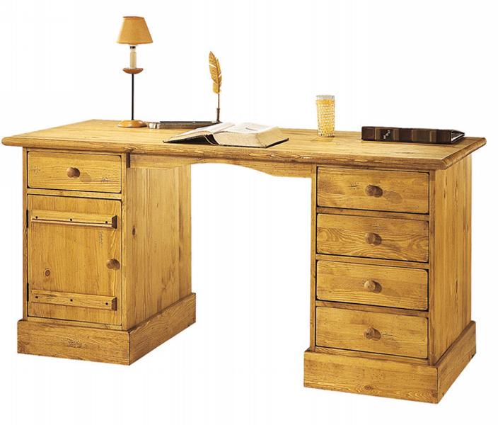 bureau en pin massif maison design. Black Bedroom Furniture Sets. Home Design Ideas