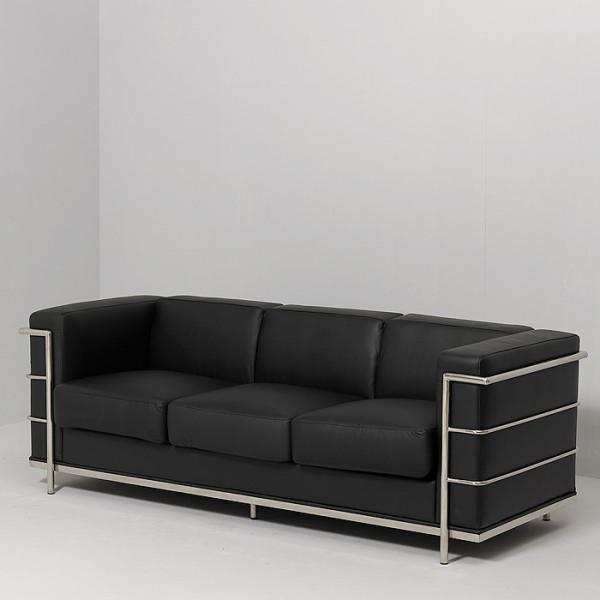 canape cuir noir but maison design. Black Bedroom Furniture Sets. Home Design Ideas
