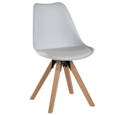 """Lot de 2 Chaises scandinaves blanches """" Benny"""""""