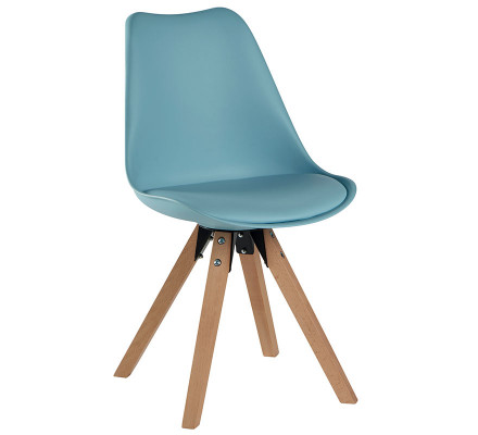 "Lot de 2 Chaises scandinaves bleues "" Benny"""