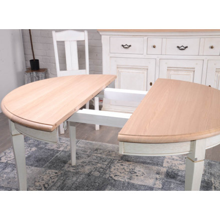 """Table ronde chêne massif """"Harmonie"""" 118cm"""