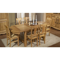 Table repas chêne massif avec allonge 220cm
