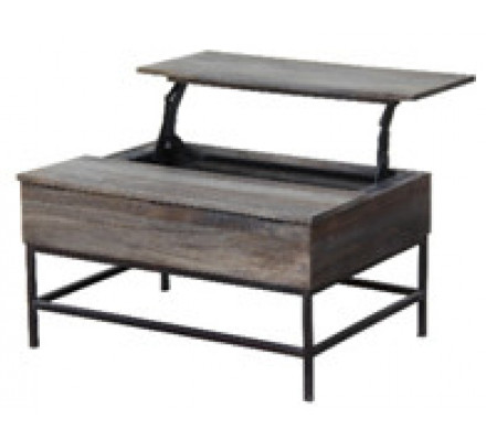 Table basse snack massif industrielle