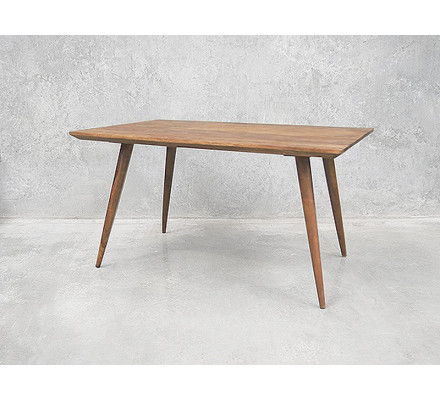 "Table scandinave pieds compas rectangulaire "" Vintage grey"""