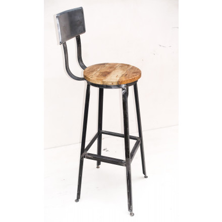 "Chaise de bar métal ""Atelier gray"""