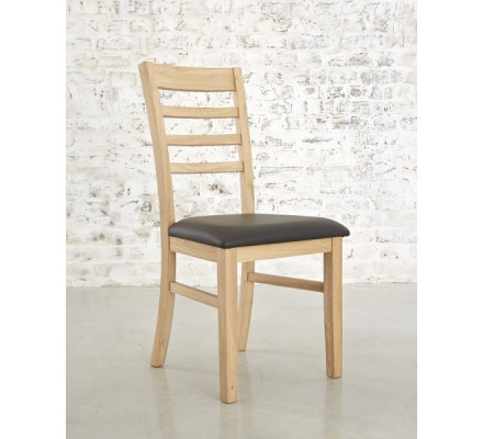 """Chaise assise bycast chêne """"Bella"""""""