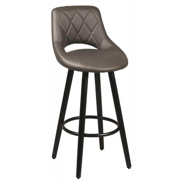Chaise de bar gris