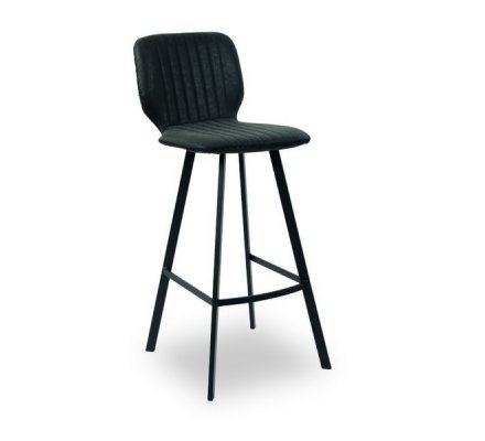 "Tabouret de bar industriel noir ""Loune"""