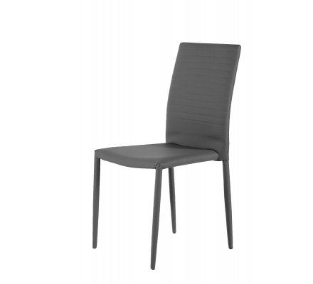 lot de 4 Chaises Grise en PU