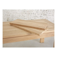 """Table de repas chêne massif rectangulaire 176cm """"Thea"""""""