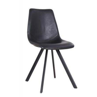 """Chaise scandinave noir """"Loin"""""""