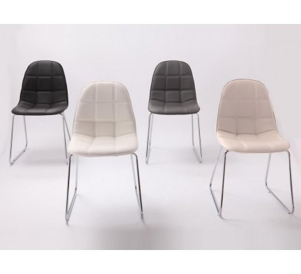 """Chaise moderne grise """"Filou"""""""