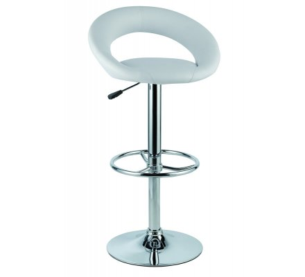 Lot de 2 tabourets de bar blanc Louise