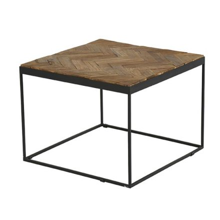 Table basse carrée mozaïque teck massif Casita