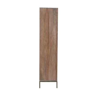 """Armoire 2 portes en bois et métal design ethnique chic """"Stripe"""" 180 cm"""
