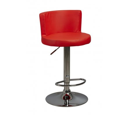 lot de 2 Tabourets de bar rouge Arturo