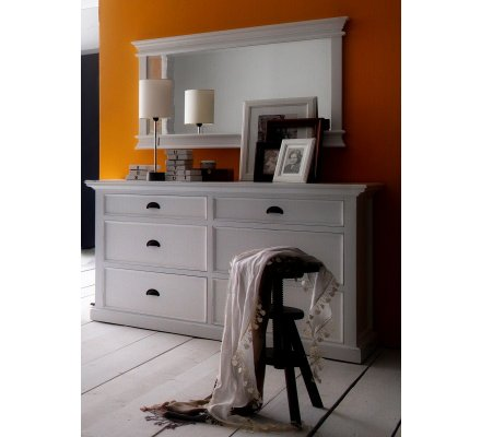 "Commode blanche ""Cygne"""