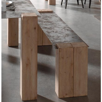 """Banc en Bois massif et métal vieilli industriel 150cm """"Acty"""""""