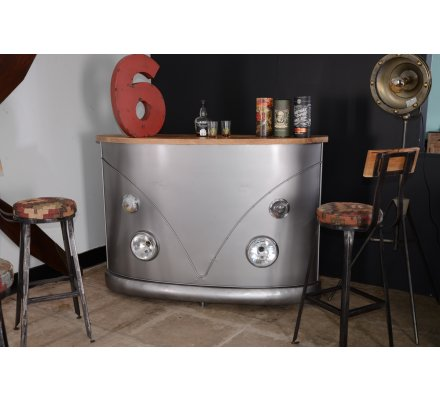 "Meuble Bar industriel WW ""Route 66"""