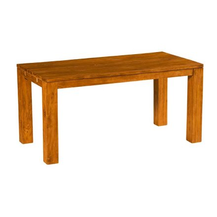 "Table rectangulaire teck massif brossé ""Bornéo"" Casita 150cm"