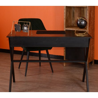 """Bureau Noir en bois et métal 120cm """" Atelier"""""""
