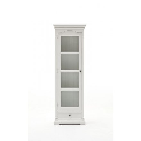 """Colonne vitrée bois blanc """"Blanche"""""""