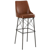 """Chaise de bar métal havane loft """"Bara"""""""