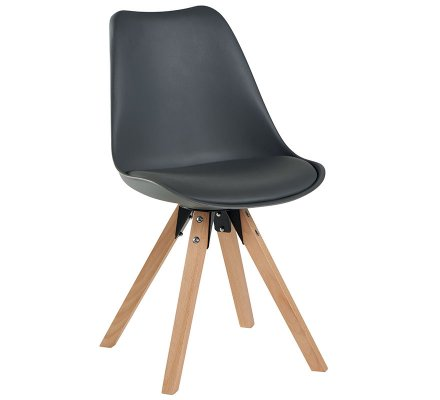 "Lot de 2 Chaises scandinaves noires "" Benny"""