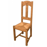 """Chaise en chêne massif rustique """"Antique"""""""