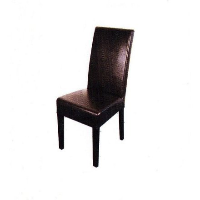 Chaise marron foncé
