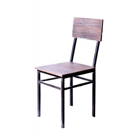 "Chaise en métal et bois 'Brooklyn"""