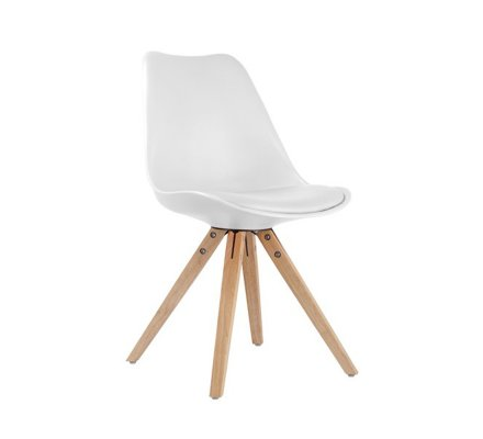 "Chaise design scandinave Blanche ""Scandinave lounge"""
