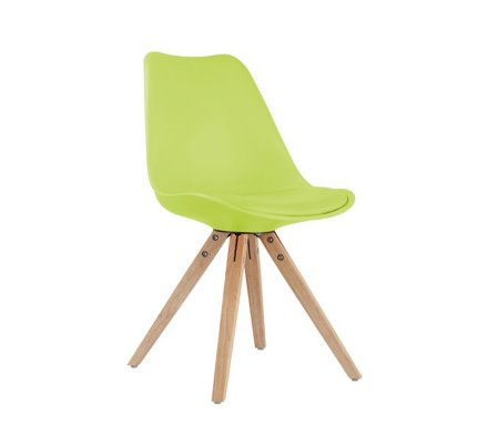 "Chaise design scandinave rouge ""Scandinave lounge"""