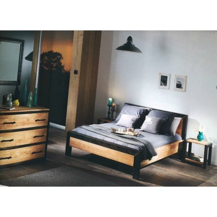 """Commode 3 tiroirs en chêne et métal"""" Manufacture"""""""
