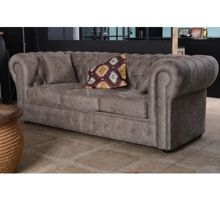 """Chesterfield  microfibre imitation cuir  """"Route 66"""""""