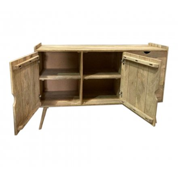 "Commode 2 portes 3 tiroirs en manguier naturel 150 cm ""Nori"""