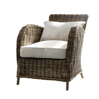 "Grand fauteuil relaxant en rotin ""Malawi"""