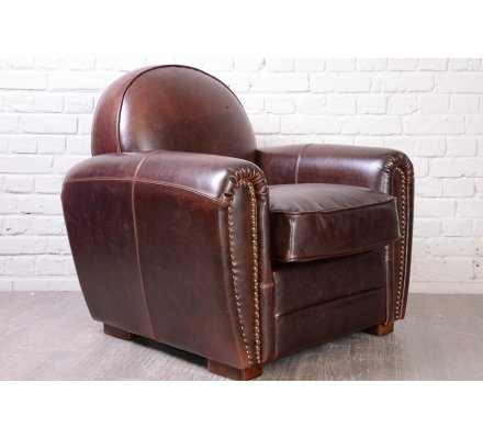 "Fauteuil club 1950 cuir by-cast ""Vintage"""