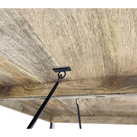 """Longue table industrielle en bois exotique et métal noir 200 cm """"Andy"""""""