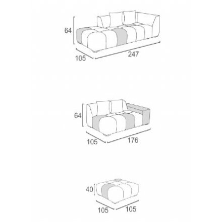 "Canapé d'extérieur design bicolore en tissu Sunbrella ""Lazy Beach"""