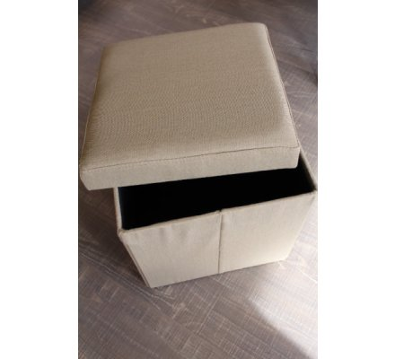 "Pouf coffre beige"" Folding"""