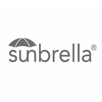 "Bain de soleil double en alu noir et tissu gris foncé Sunbrella ""Sipura Island"""