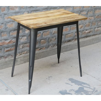"""Mange-debout 120x70cm en bois exotique et métal """"Dowtoun"""""""