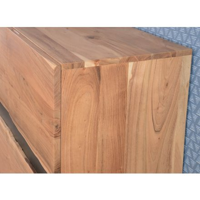 "Bahut 3 portes en bois massif naturel ""Zen"""