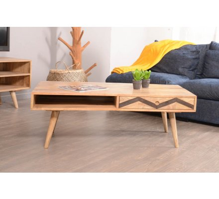 "Table basse scandinave ""Zigzag"""